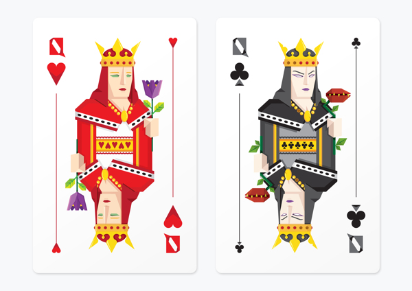 Frederico_Birchal_Dark_Side_Playing_Cards_Queens_2