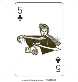 John_Lock_Playing_Cards_The_Five_of_Clubs