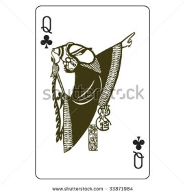 John_Lock_Playing_Cards_The_Queen_of_Clubs