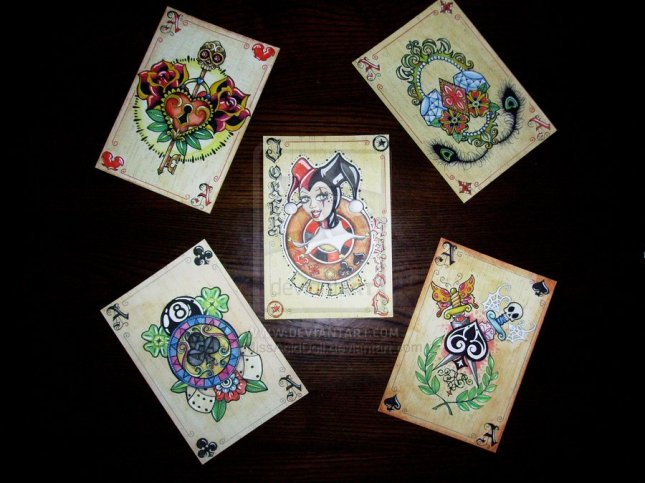 missaciddoll-Tattoo-Playing-Cards