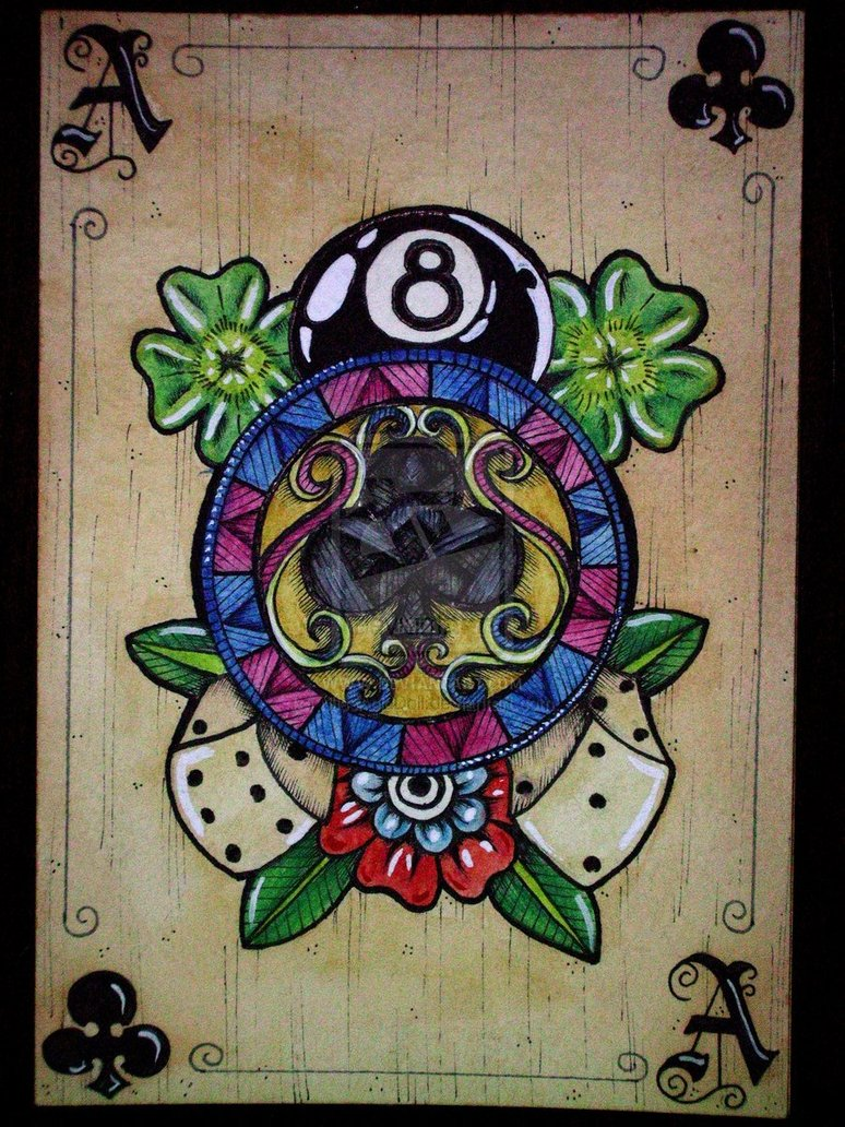 Ace Of Pentacles Images On Pinterest: DeviantART: Tattoo Playing Cards By MissAcidDoll