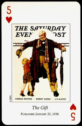 N_Rockwell_Saturday_Evening_Post_The_Five_of_Hearts