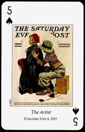 N_Rockwell_Saturday_Evening_Post_The_Five_of_Spades
