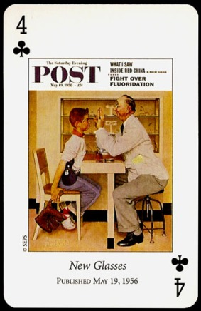 N_Rockwell_Saturday_Evening_Post_The_Four_of_Clubs