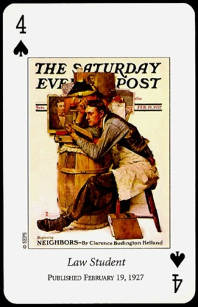 N_Rockwell_Saturday_Evening_Post_The_Four_of_Spades