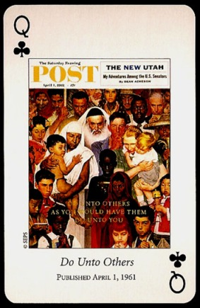N_Rockwell_Saturday_Evening_Post_The_Queen_of_Clubs