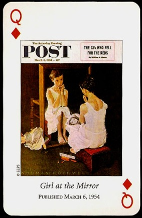 N_Rockwell_Saturday_Evening_Post_The_Queen_of_Diamonds