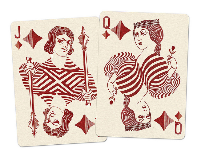 Royal_Optik_Playing_Cards_Jack_Queen_of_Diamonds