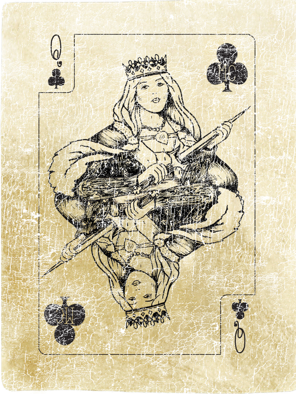 Seizer-One-Design-Playing-Cards-The-Queen-of-Clubs