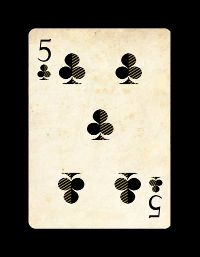 Venexiana_Playing_Cards_The_Five_of_Clubs