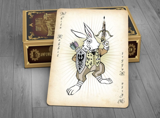 Alice_of_Wonderland_Playing_Cards_Joker_Gold_Edition
