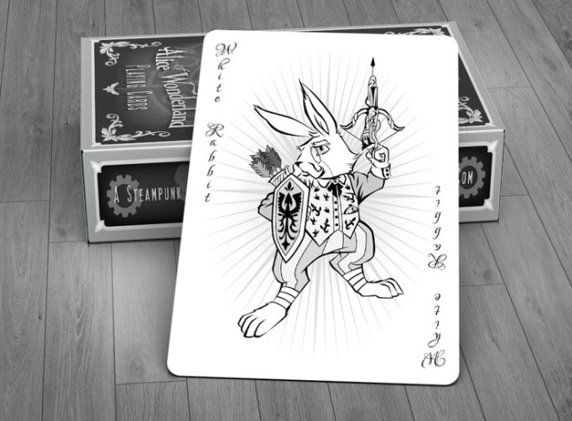 Alice_of_Wonderland_Playing_Cards_Joker_Silver_Edition