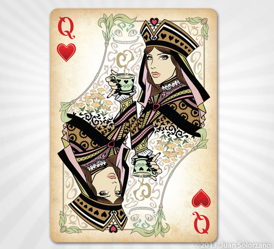 Alice_of_Wonderland_Playing_Cards_Queen_of_Hearts