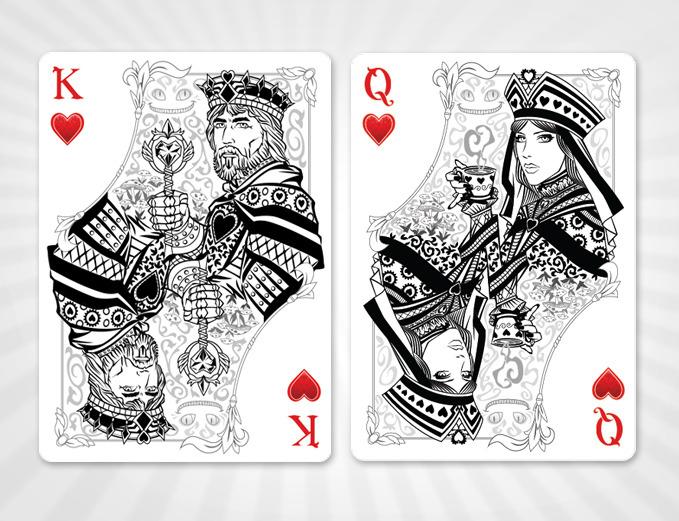Kickstarter Alice Of Wonderland Playing Cards By Juan