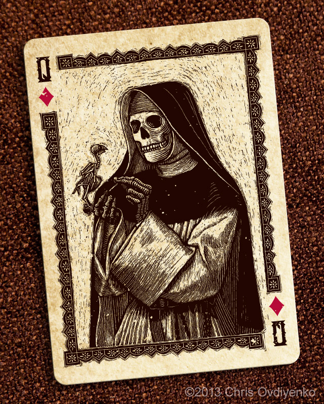 Bicycle_Calaveras_Playing_Cards_The_Queen_of_Diamonds