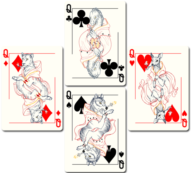 Bicycle_Royal_Wilderness_Playing_Cards_Queens