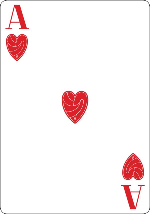 bēhance black hearted poker deck by raquel sordi