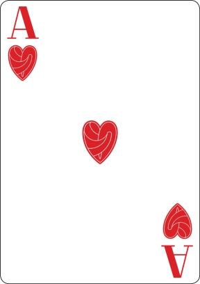 playing cards ace of hearts