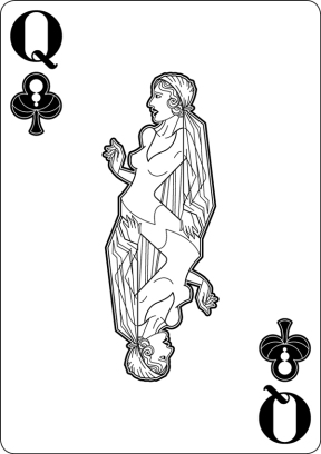 Black-Hearted-Playing-Cards-by-Raquel-Sordi-Queen-of-Clubs