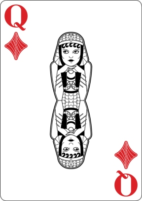 Black-Hearted-Playing-Cards-by-Raquel-Sordi-Queen-of-Diamonds