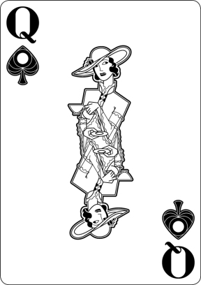 Black-Hearted-Playing-Cards-by-Raquel-Sordi-Queen-of-Spades