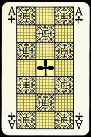 Jugendstil_Art_Nouveau_Playing_Cards_The_Ace_of_Clubs