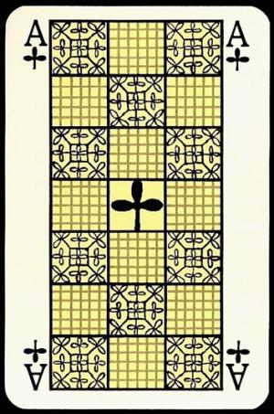 Jugendstil_Art_Nouveau_Playing_Cards_The_Ace_of_Clubs