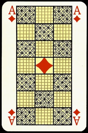 Jugendstil_Art_Nouveau_Playing_Cards_The_Ace_of_Diamonds
