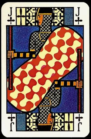 Jugendstil_Art_Nouveau_Playing_Cards_The_Jack_of_Clubs