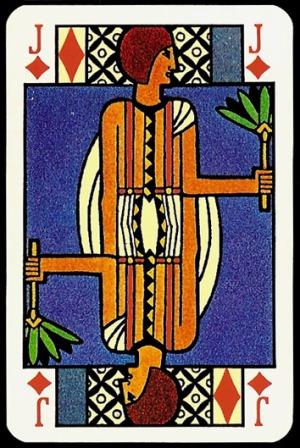 Jugendstil_Art_Nouveau_Playing_Cards_The_Jack_of_Diamonds
