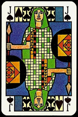 Jugendstil_Art_Nouveau_Playing_Cards_The_Jack_of_Spades