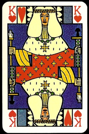 Jugendstil_Art_Nouveau_Playing_Cards_The_King_od_Hearts