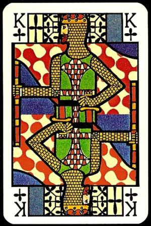 Jugendstil_Art_Nouveau_Playing_Cards_The_King_of_Clubs