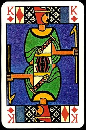 Jugendstil_Art_Nouveau_Playing_Cards_The_King_of_Diamonds