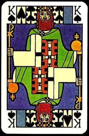 Jugendstil_Art_Nouveau_Playing_Cards_The_King_of_Spades