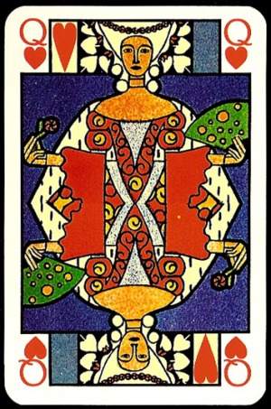 Jugendstil_Art_Nouveau_Playing_Cards_The_Queen_of_Hearts