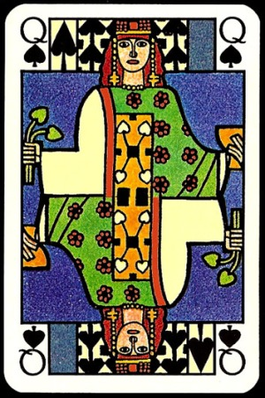 Jugendstil_Art_Nouveau_Playing_Cards_The_Queen_of_Spades