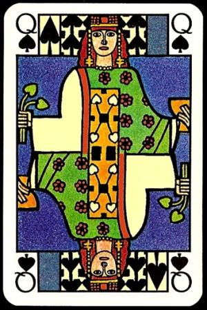 Jugendstil_Art_Nouveau_Playing_Cards_The_Queen_of_Spades