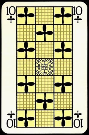 Jugendstil_Art_Nouveau_Playing_Cards_The_Ten_of_Clubs