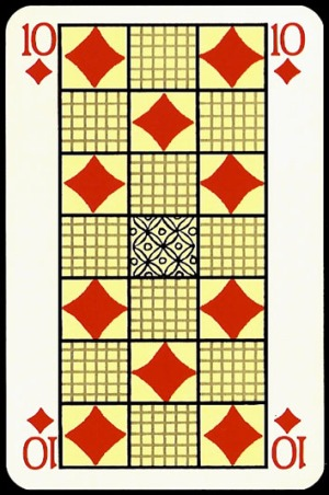 Jugendstil_Art_Nouveau_Playing_Cards_The_Ten_of_Diamonds0