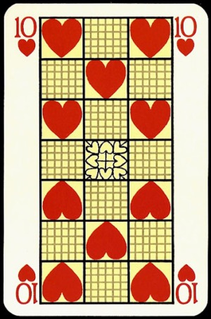 Jugendstil_Art_Nouveau_Playing_Cards_The_Ten_of_Hearts