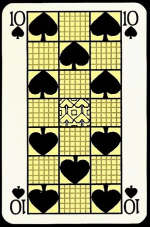 Jugendstil_Art_Nouveau_Playing_Cards_The_Ten_of_Spades