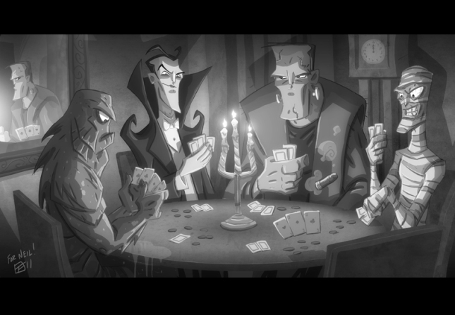 monsters_playing_poker_by_otisframpton