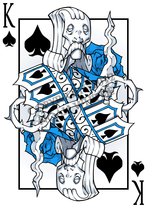 Noah_Wippie_Blue_Rose_Playing_Cards_The_King_of_Spades