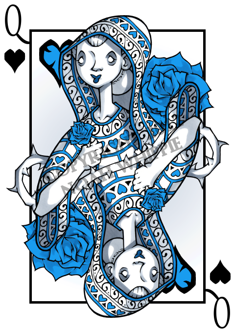 Noah_Wippie_Blue_Rose_Playing_Cards_The_Queen_of_Hearts