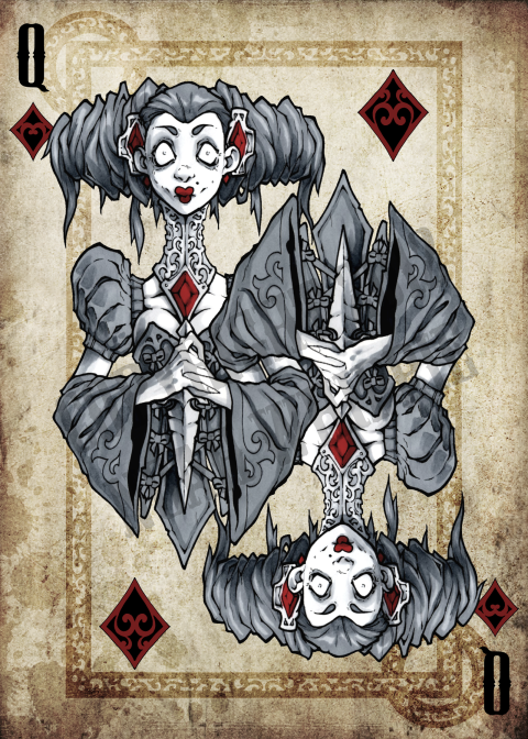 Noah_Wippie_Dark_Arts_Playing_Cards_The_Queen_of_Diamonds
