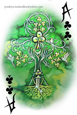 P-Malandkar-Four-Elements-Playing-Cards-Ace-of-Clubs