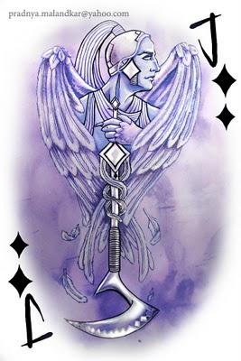 P-Malandkar-Four-Elements-Playing-Cards-Jack-of-Diamonds