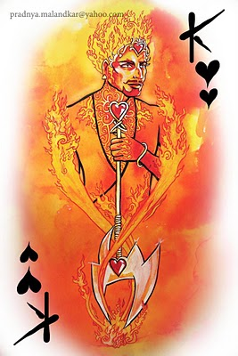 P-Malandkar-Four-Elements-Playing-Cards-King-of-Hearts