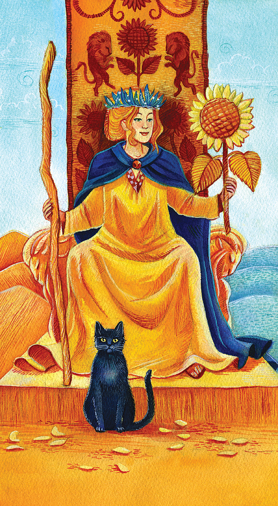 Queen_of_Wands_by_Francesca_Buchko